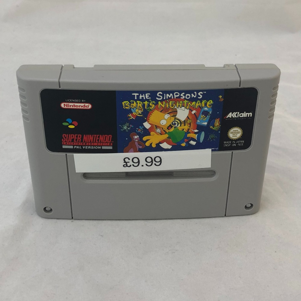 Product photo for Nintendo SNES Game The Simpsons: Bart's Nightmare SNES