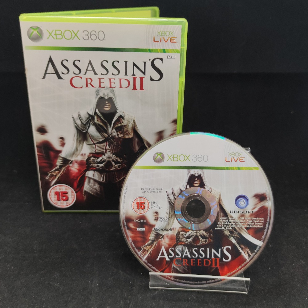 Product photo for  Microsoft Xbox 360 game Assassins Creed 2