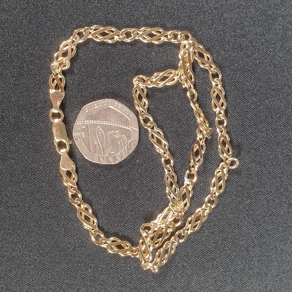 Product photo for 11.57g 9ct Yellow Gold Celtic Chain 16