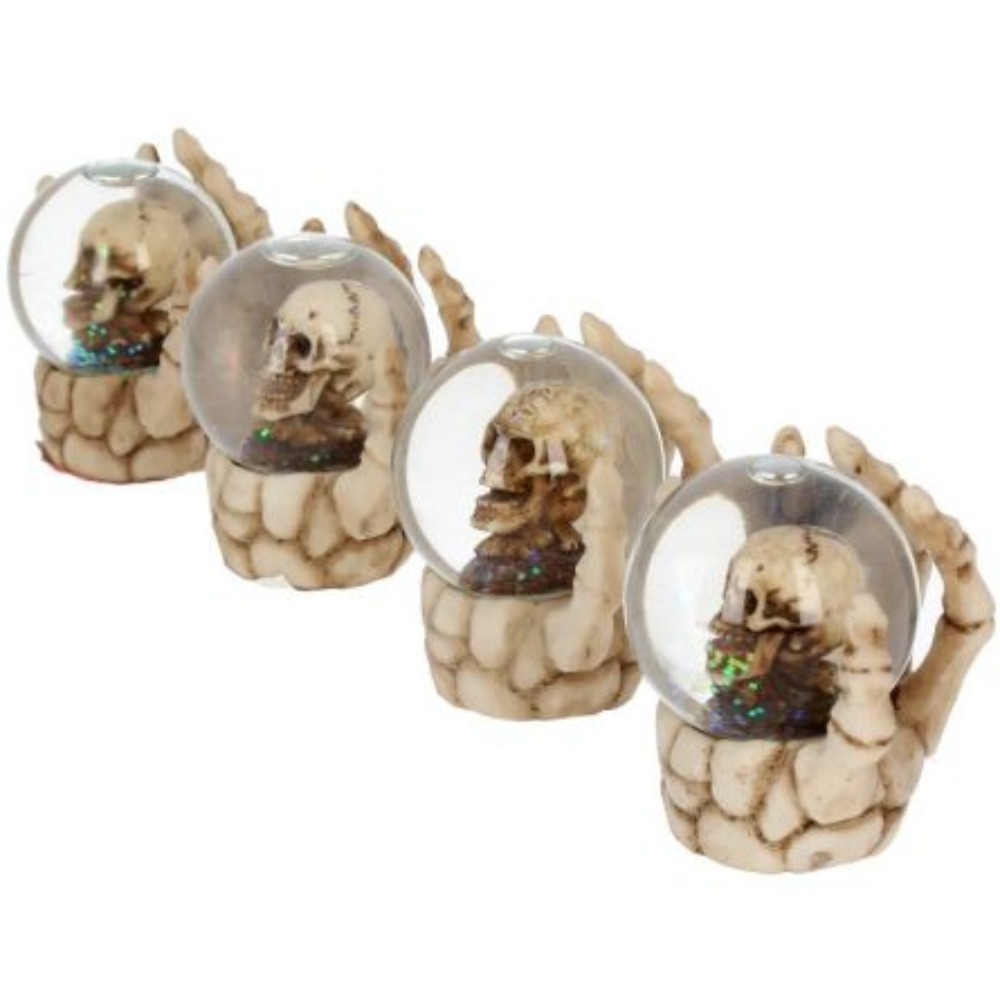 Product photo for The Forgotten Snow Globe Set of 4