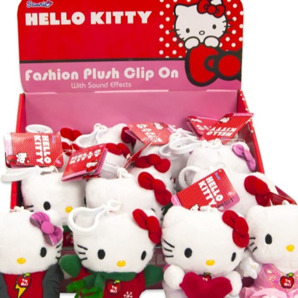 Product photo for Hello Kitty 4in Plush Clip On Assorted x1