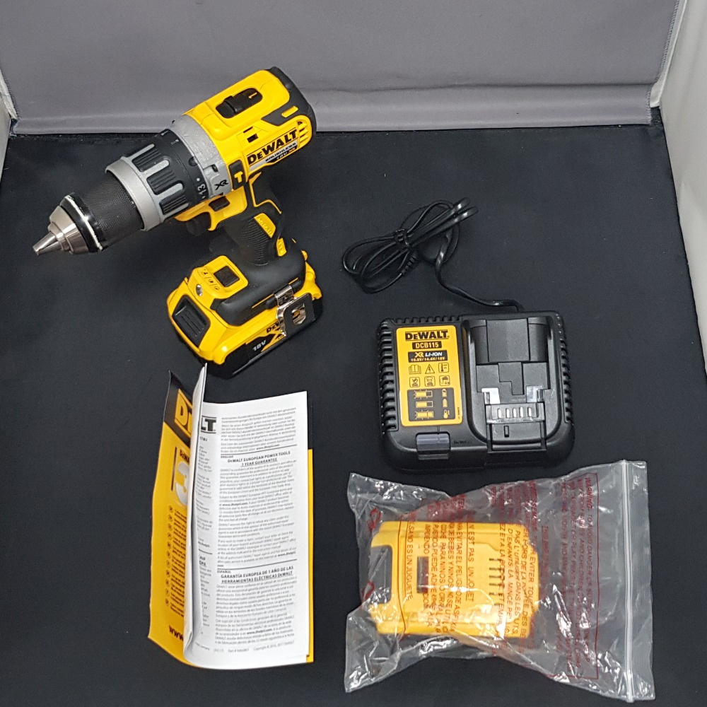 Product photo for DeWalt Dewalt 18V XR Brushless Combi Drill DCD796 W/ 2X 5Ah batteries with charger