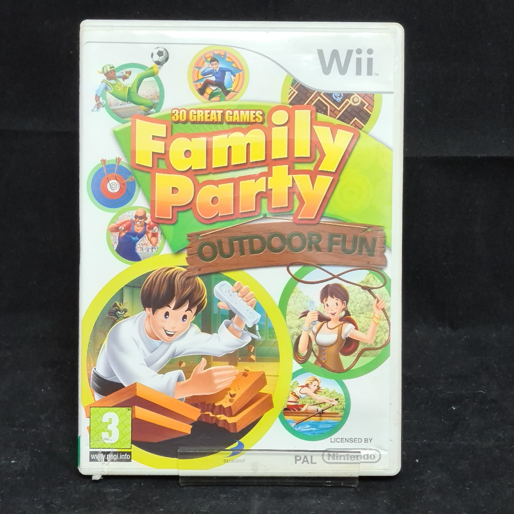 Product photo for Nintendo Wii Game Family Party Outdoor Fun