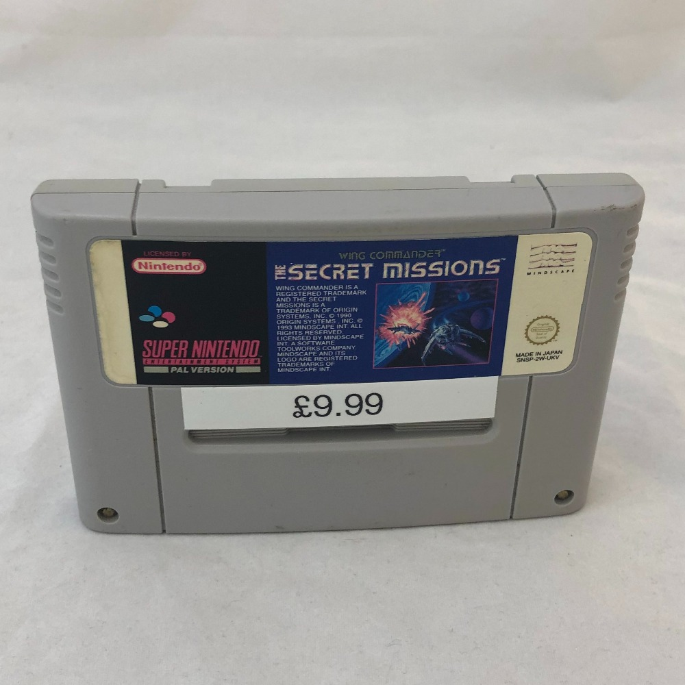 Product photo for SECRET MISSIONS Nintendo SNES Game