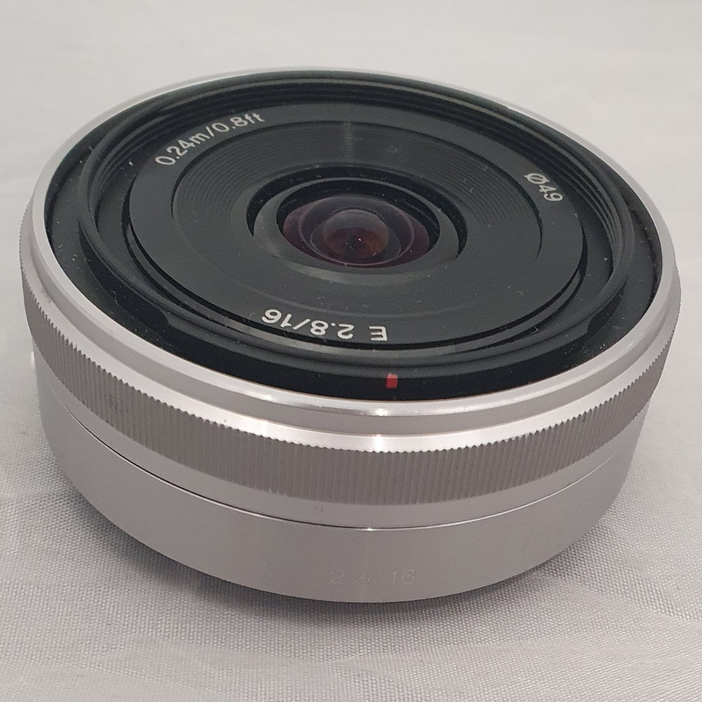 Product photo for Sony SEL 16F28 Wide Angle 16mm f/2.8 AF MF Lens