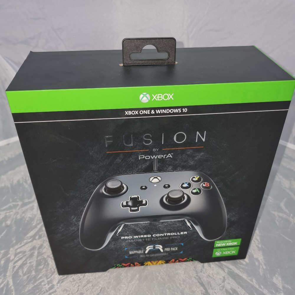 Product photo for Microsoft Xbox  POWERA FUSION PRO WIRED CONTROLLER FOR XBOX ONE - BLACK