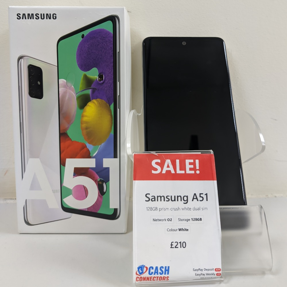 Product photo for Samsung Samsung A51 - 128GB - Unlocked - Crush Prism White