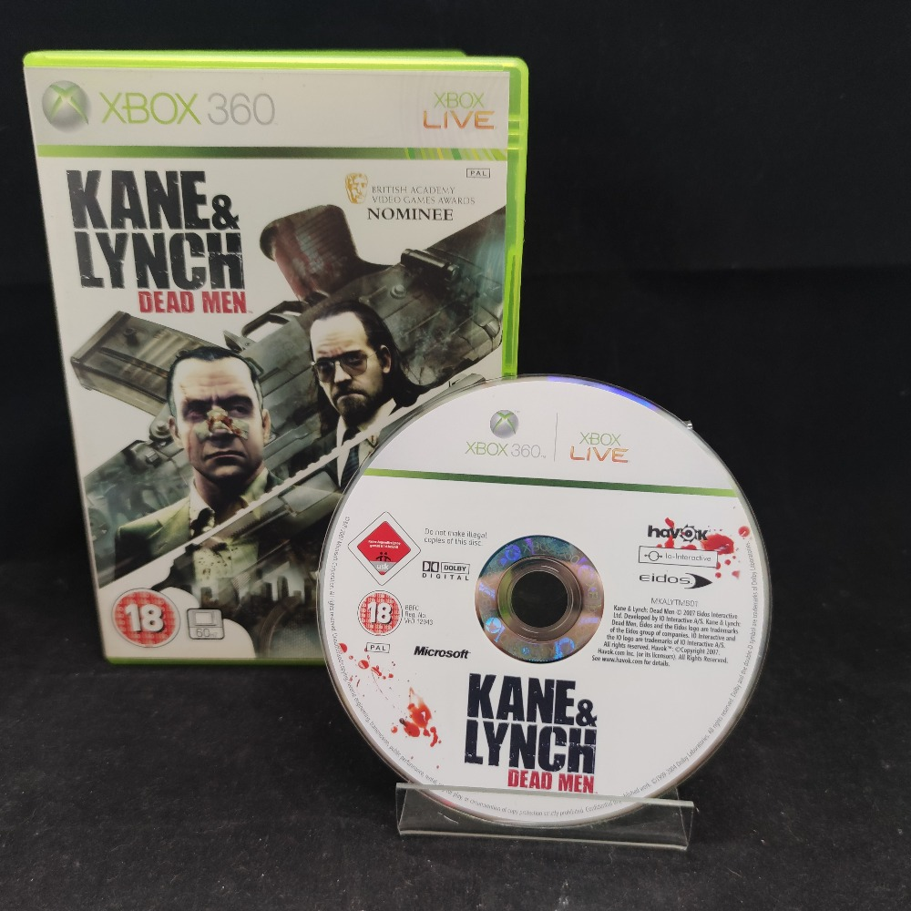 Product photo for  Microsoft Xbox 360 game Kane and lynch dead men