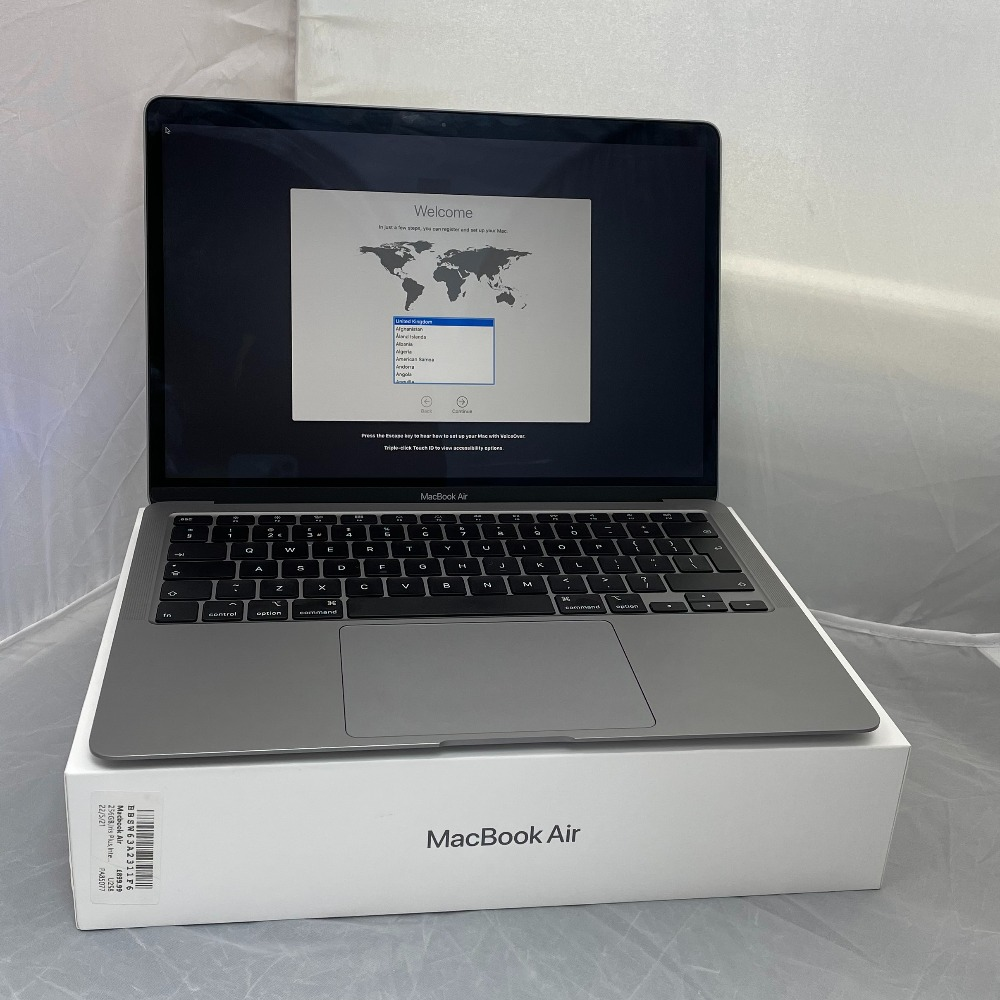 Product photo for Apple Macbook Air - 2020 addition.