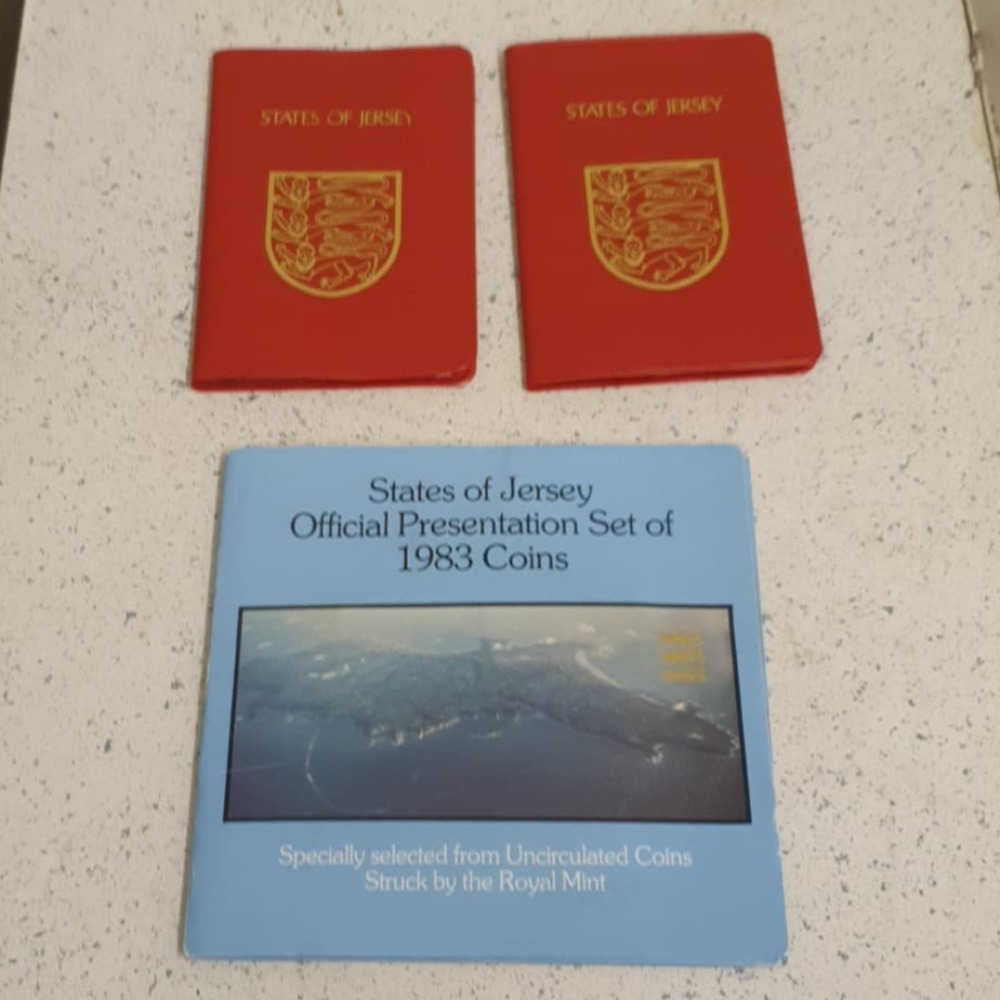 Product photo for State of Jersey Coins States of Jersey Official Presentation 1983 coins + other coins