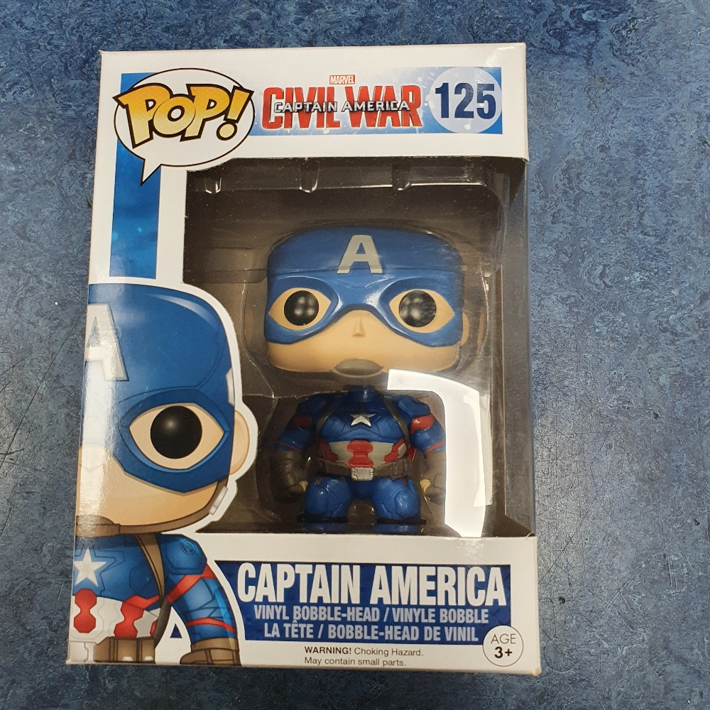 Product photo for Funko Pop captain america #125
