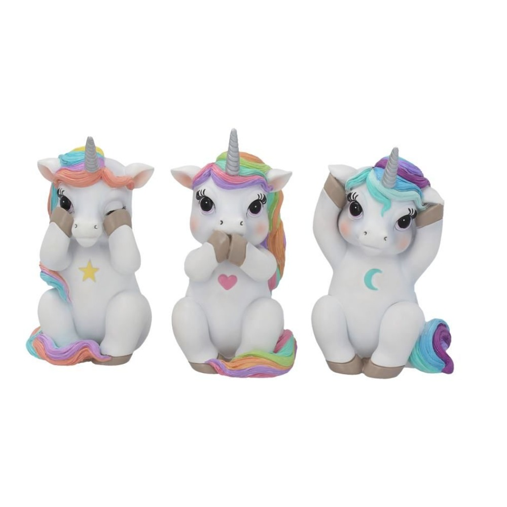 Product photo for Nemesis Now Three Wise Cutiecorns