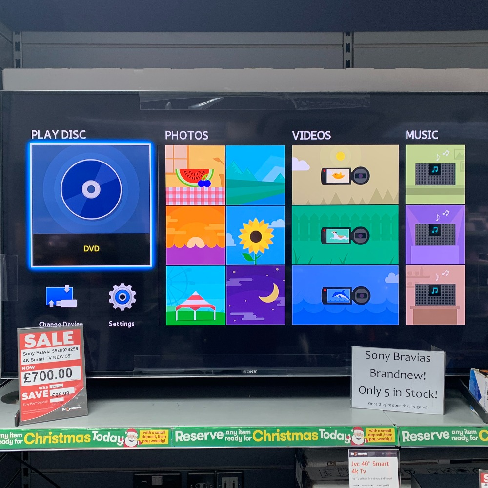 Product photo for Sony 55XH9296 4K Smart TV (WAS £799.99)