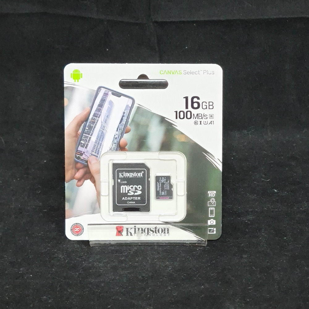 Product photo for Kingston  16GB Micro SD Card