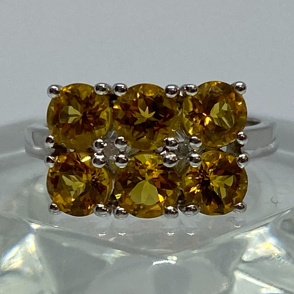 Product photo for SILVER CITRINE RING - 3.5 GRAMS - SIZE M