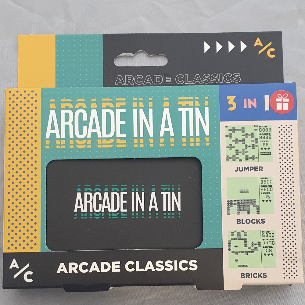 Product photo for arcade classics Arcade In A Tin (3 In 1)