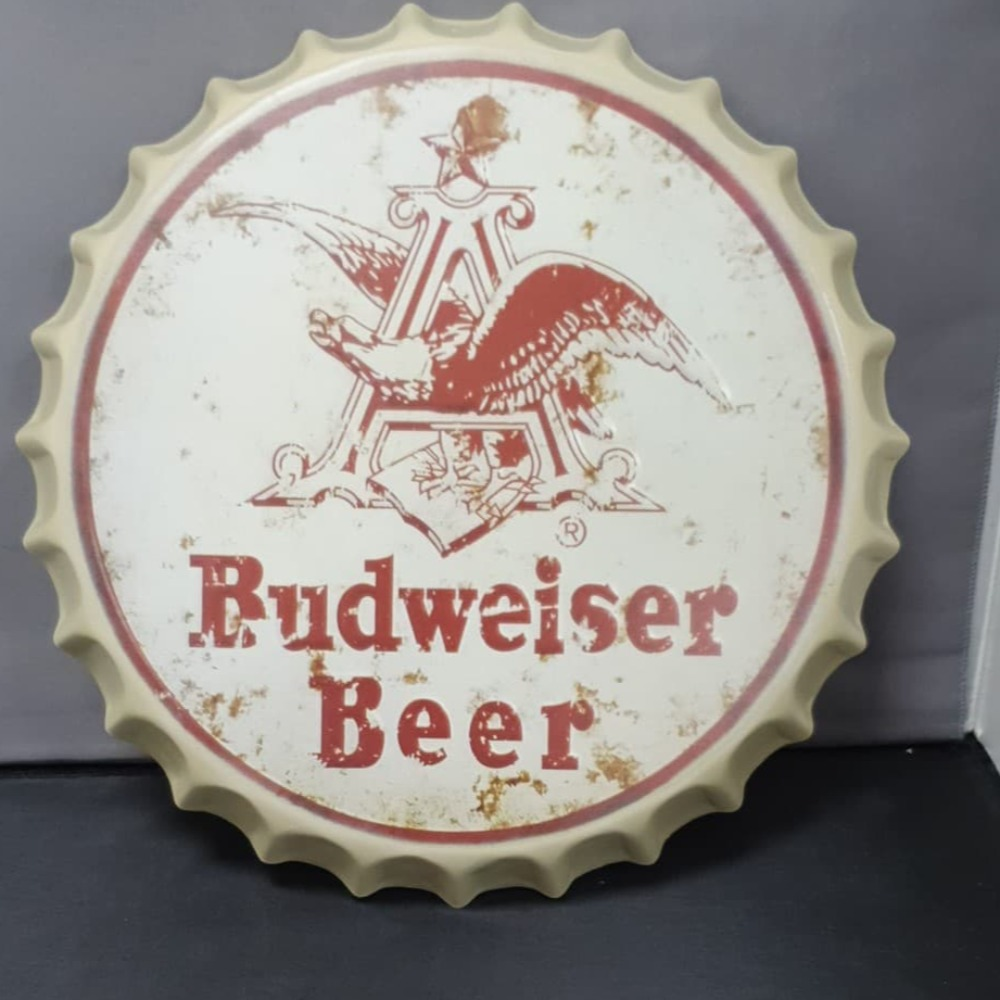 Product photo for 40cm Budweiser Beer Bottle Cap