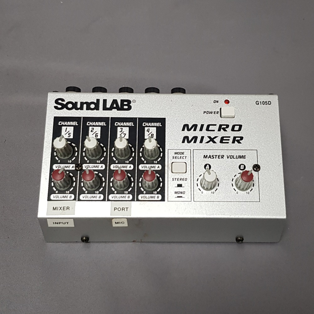 Product photo for SoundLAB  G105D Micro Mixer