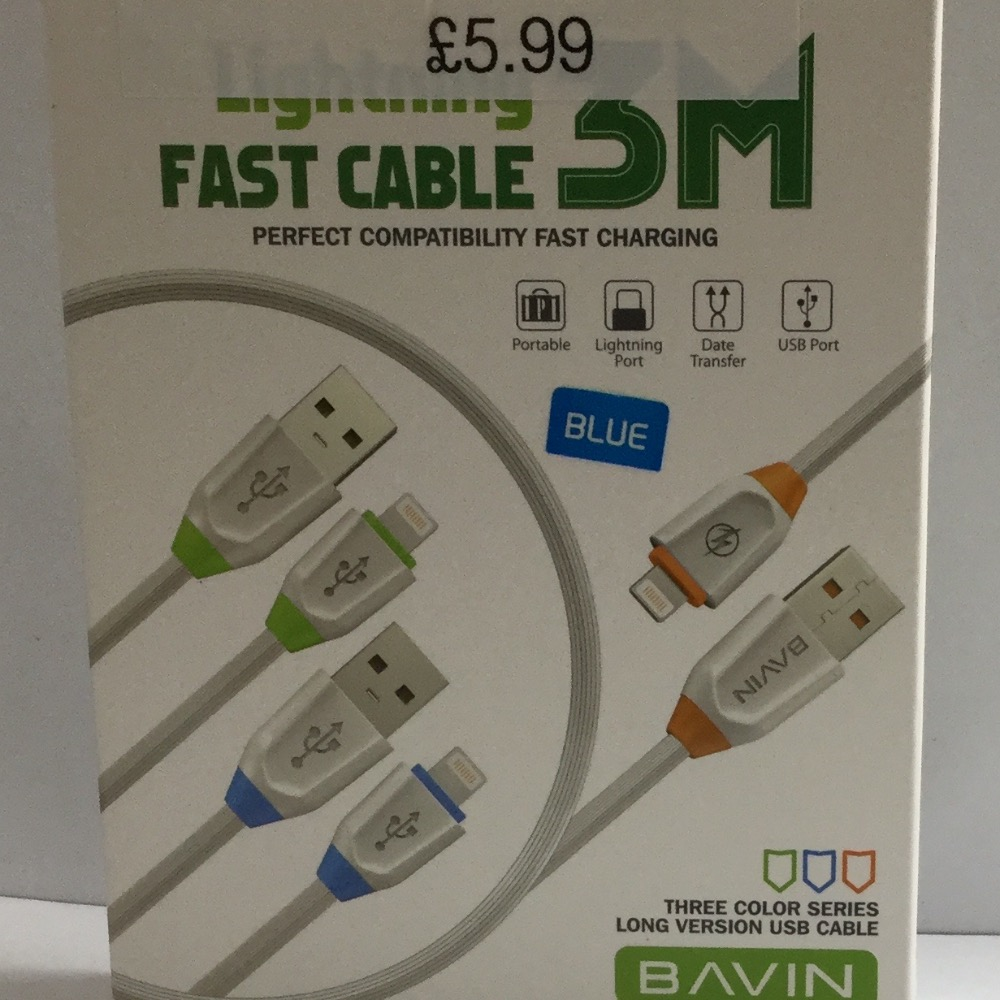 Product photo for Bavin 3m Lightning cable