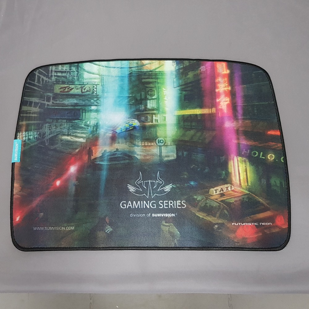 Product photo for Sumvision Futuristic Neon gaming mouse mat