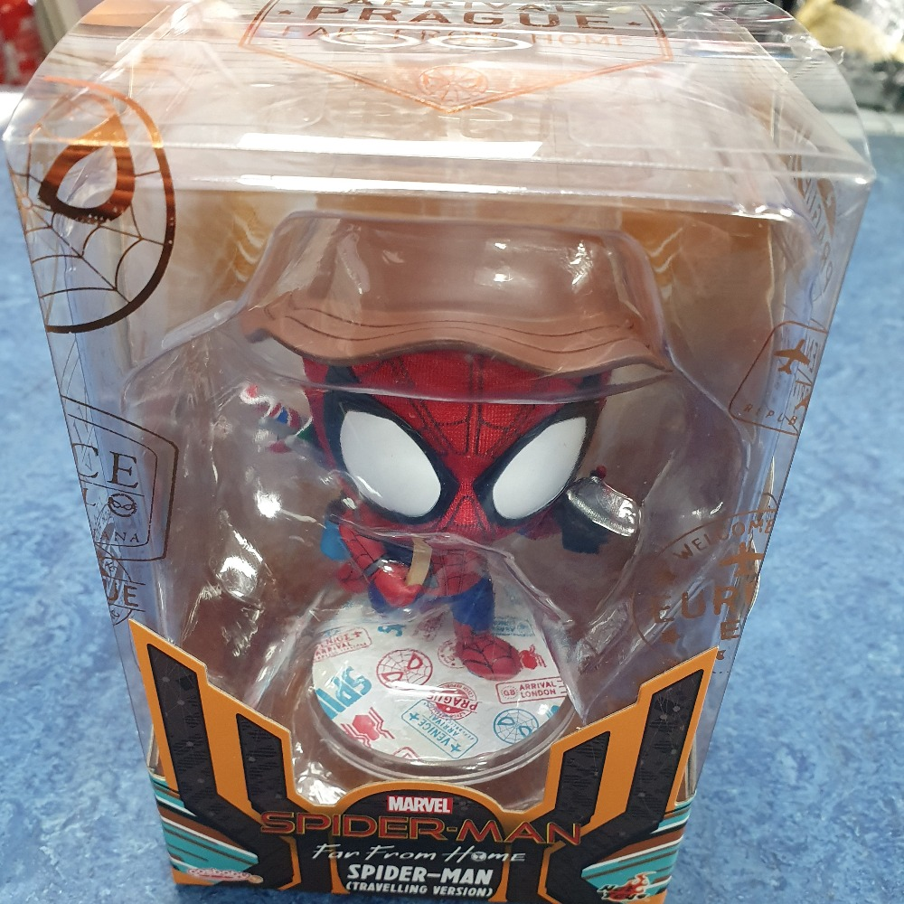 Product photo for Hot toyd Cosbaby Marvel Spider-Man Travelling
