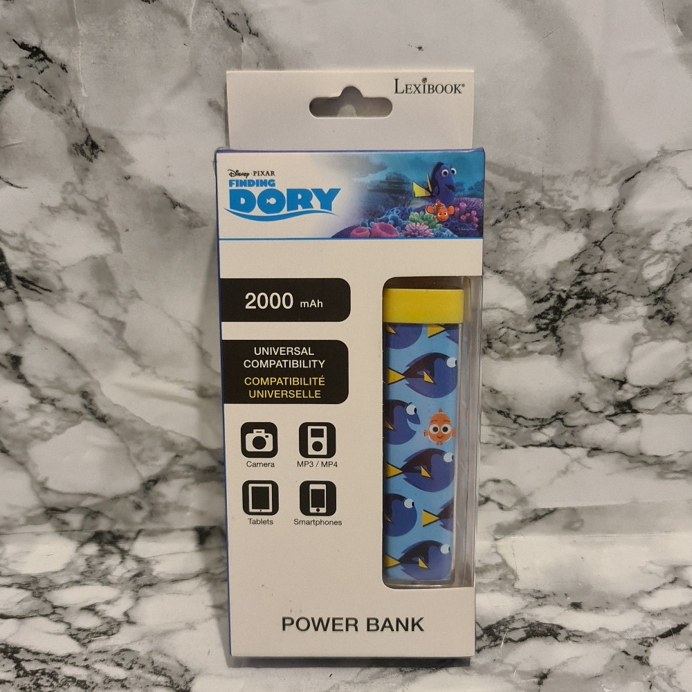 Product photo for Lexibook Disney's Finding Dory 2000mAh Rechargable Powerbank - Brand New