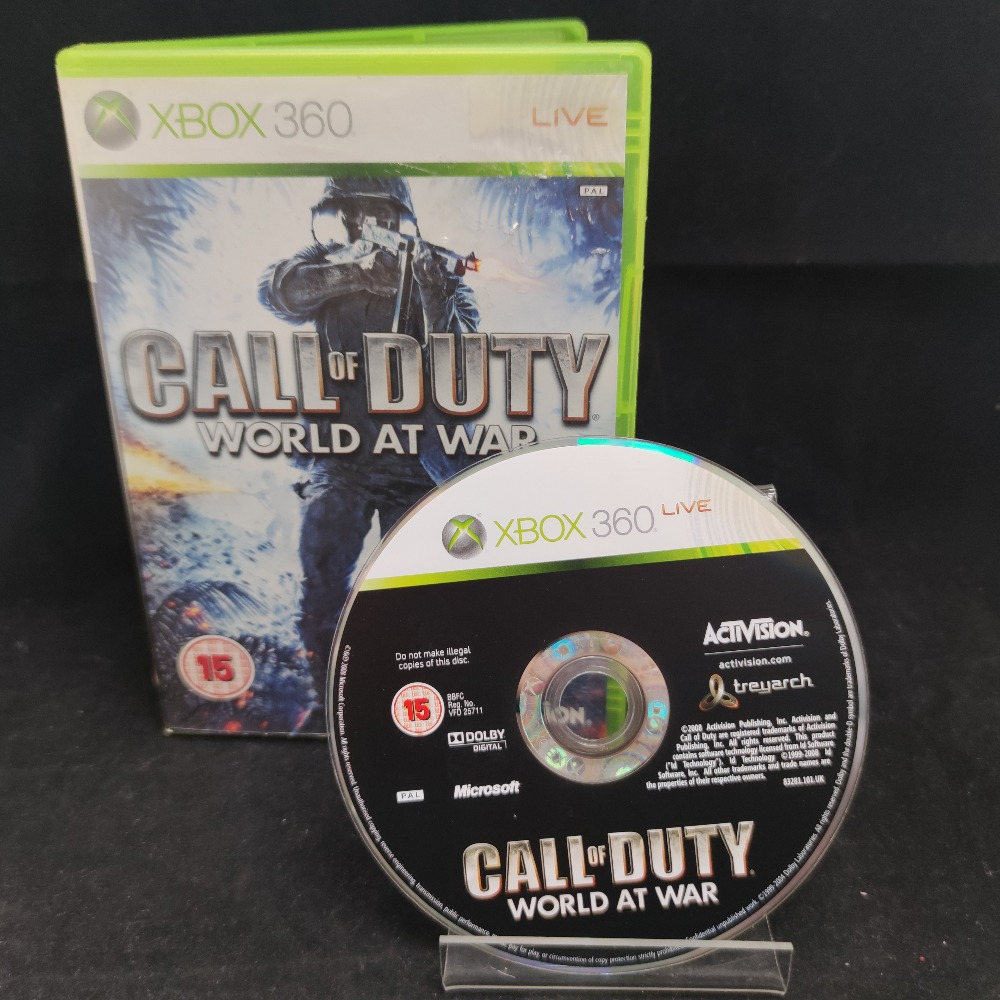 Product photo for  Microsoft Xbox 360 game Call Of Duty World At War