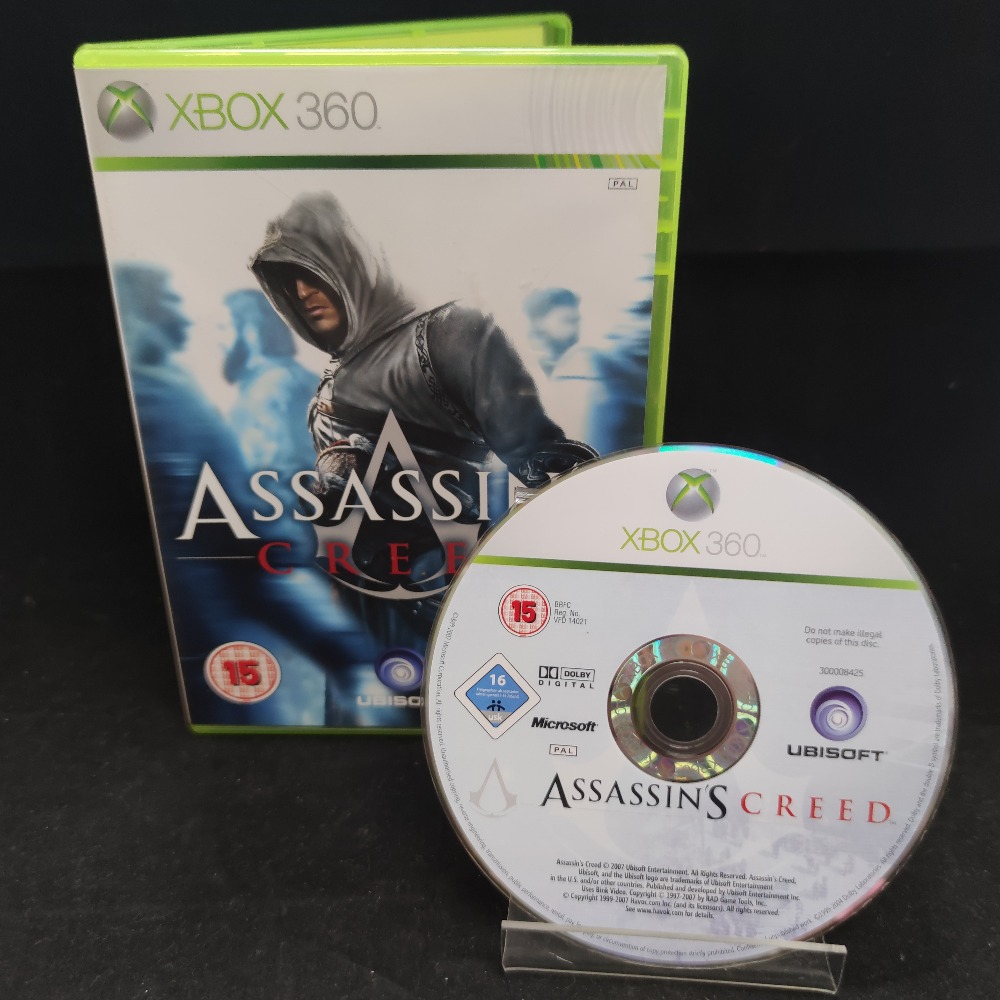 Product photo for  Microsoft Xbox 360 game Assassins Creed
