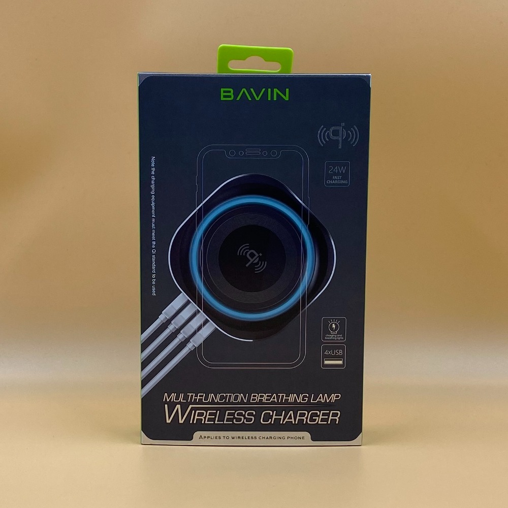 Product photo for BAVIN 24V QI WIRELESS CHARGER - BLACK