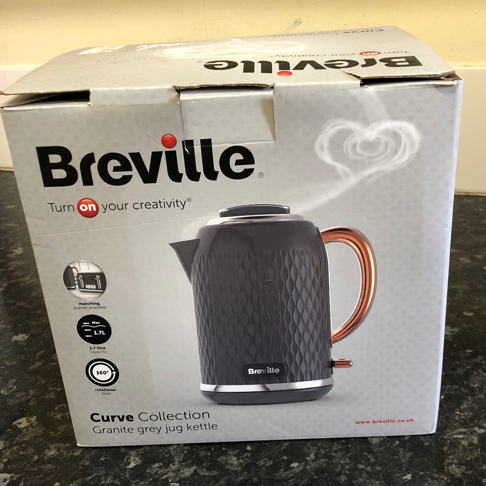 Product photo for Breville Breville Curve collection granite grey jug kettle