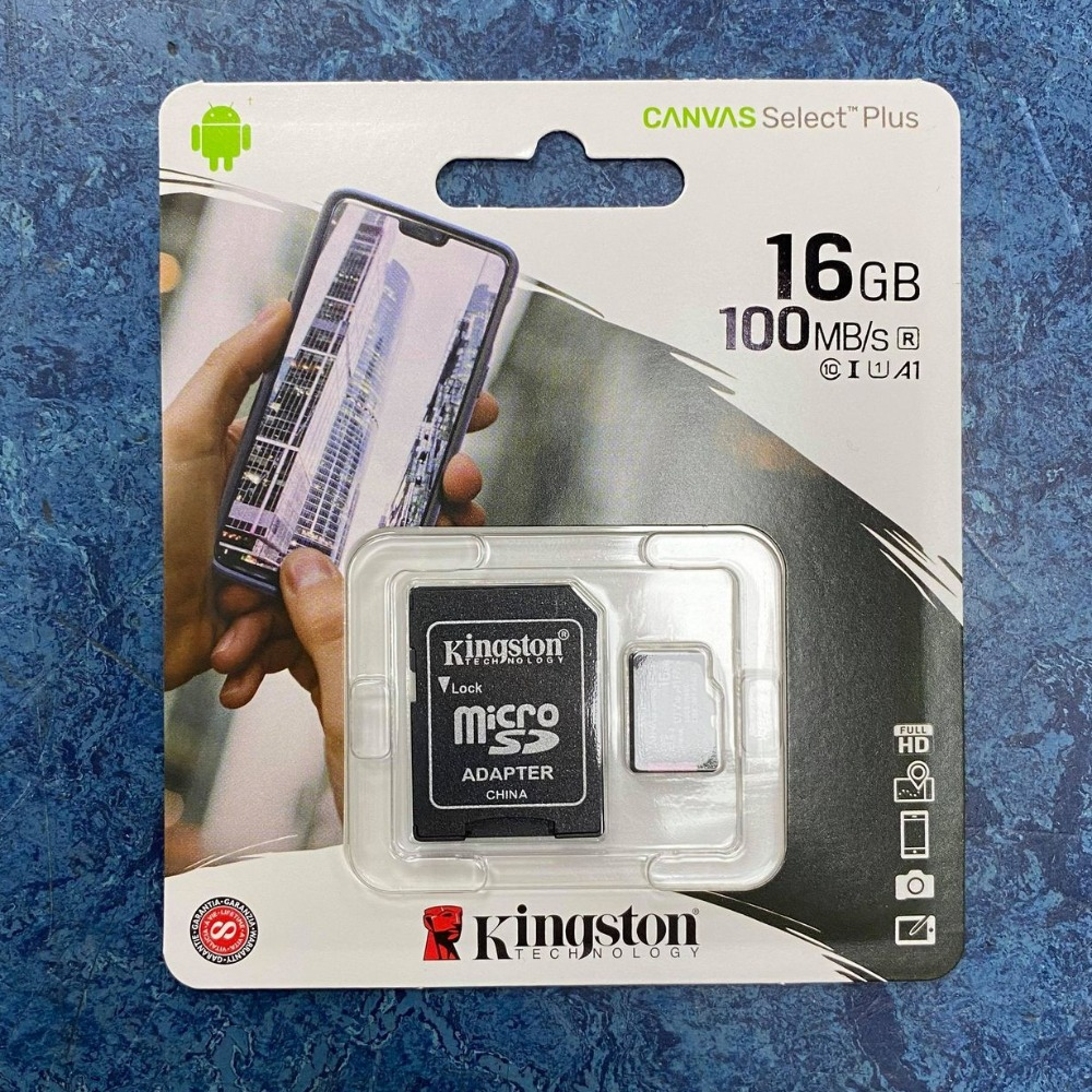 Product photo for Kingston Technology 16GB Micro SD Card