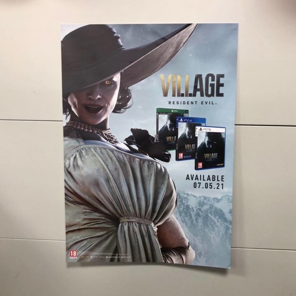 Product photo for Collectable Resident Evil - Lady Vampire Official Promotion Poster (Not a Game)