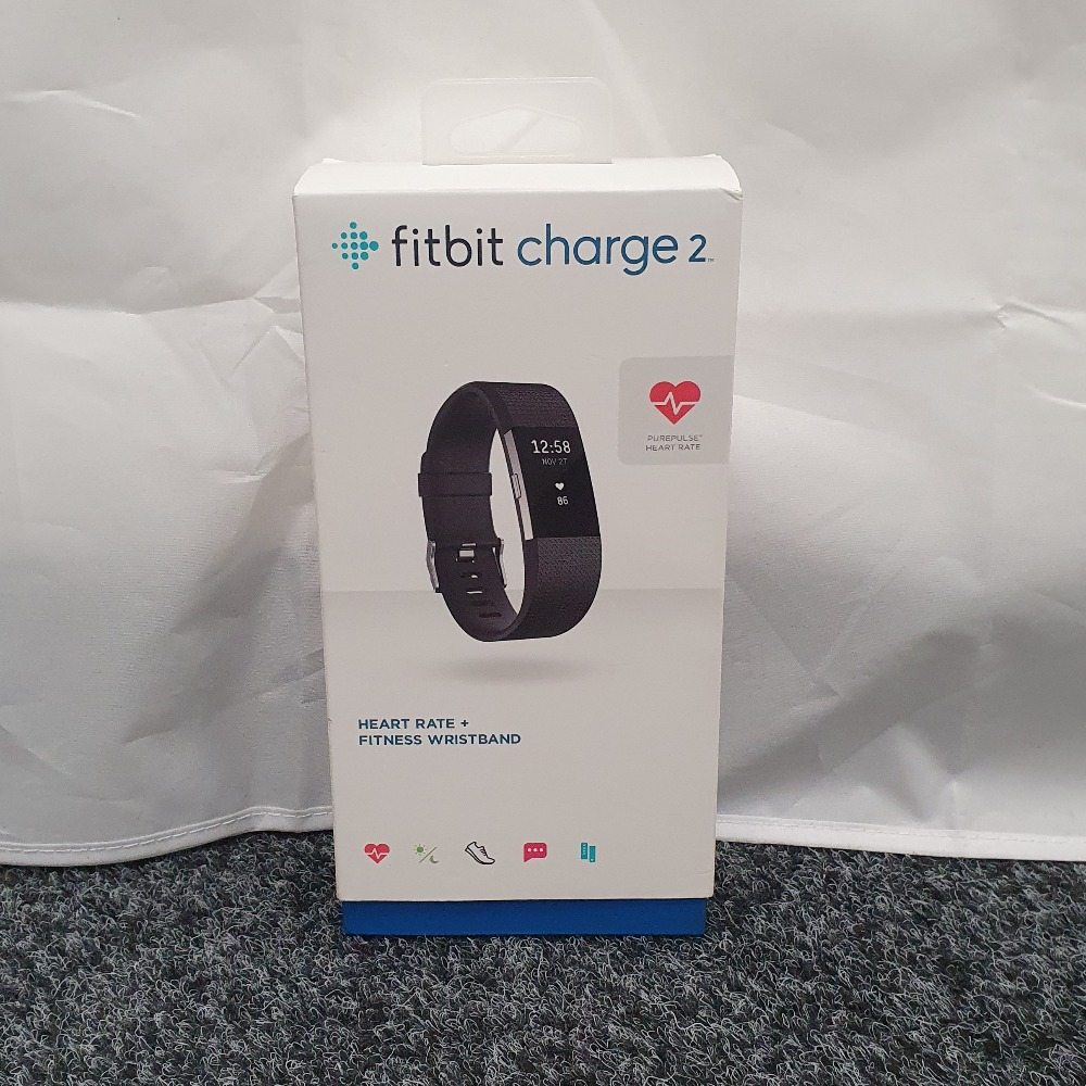 Product photo for Fitbit Fitbit Charge 2 Heart Rate + Fitness Band - Black
