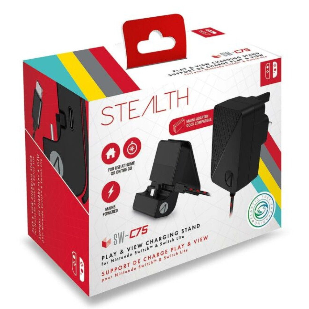 Product photo for STEALTH SW-C75 Play & View Charging Stand for Nintendo Switch & Switch Lite