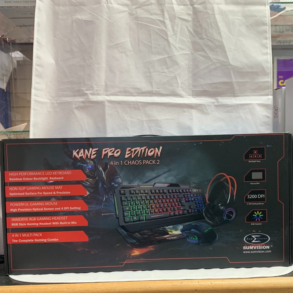Product photo for Kane pro gaming bundle (WAS £34.99)