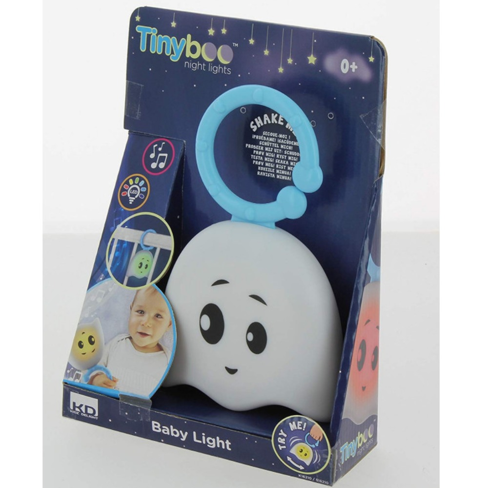 Product photo for Tiny Boo Baby Light & Music Rattle