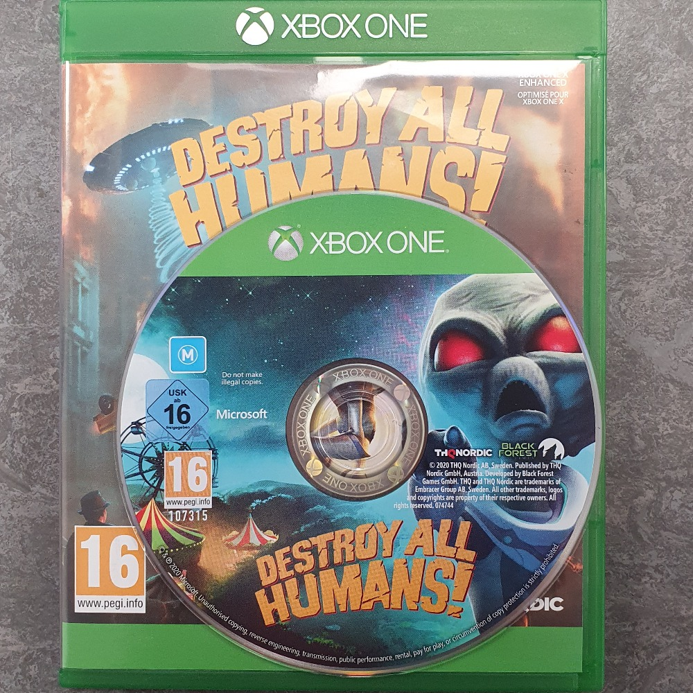 Product photo for  Xbox one game Destroy All Humans! (Xbox One)