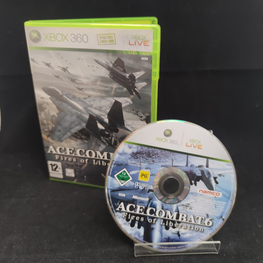 Product photo for  Microsoft Xbox 360 game Ace Combat 6