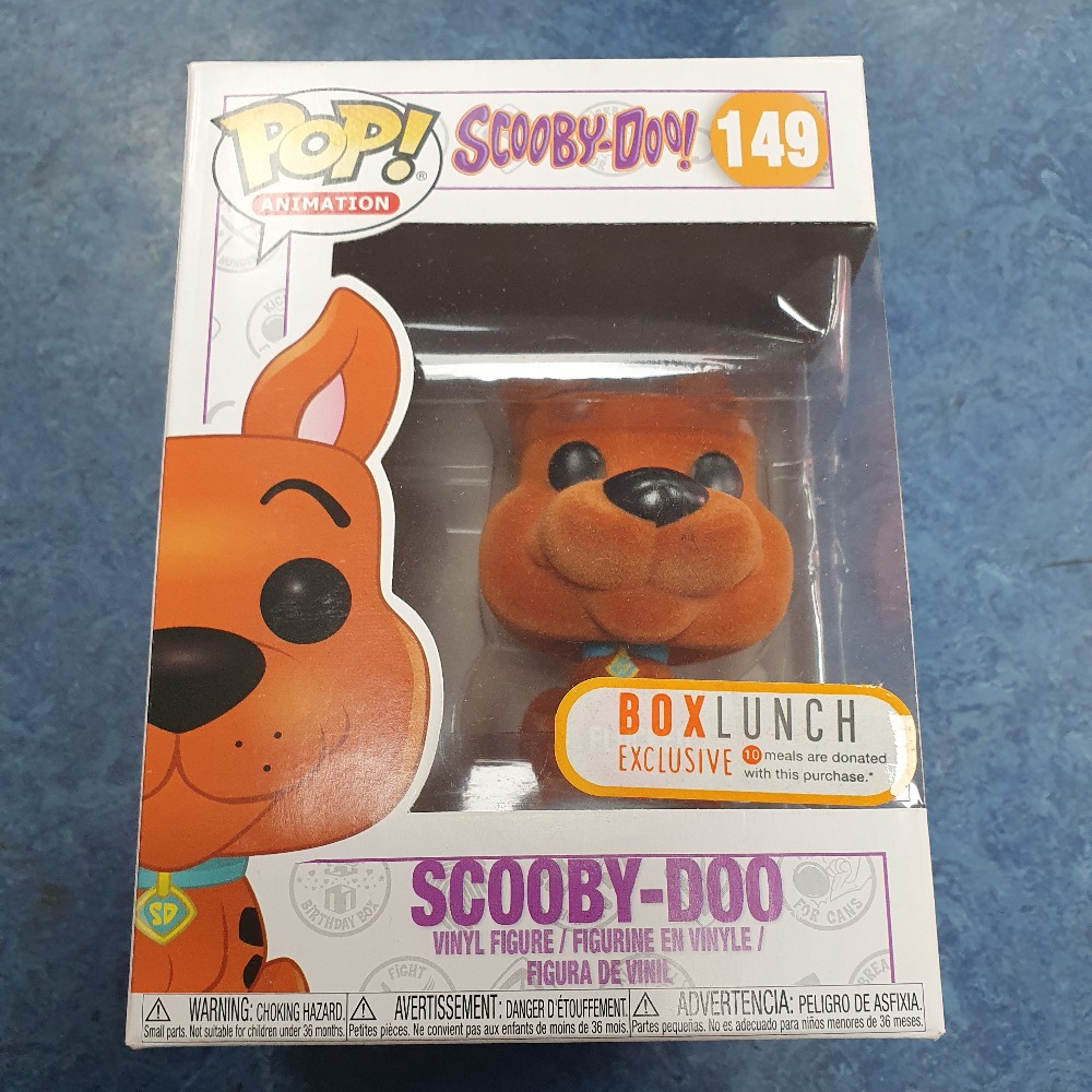 Product photo for scooby doo flocked US sticker