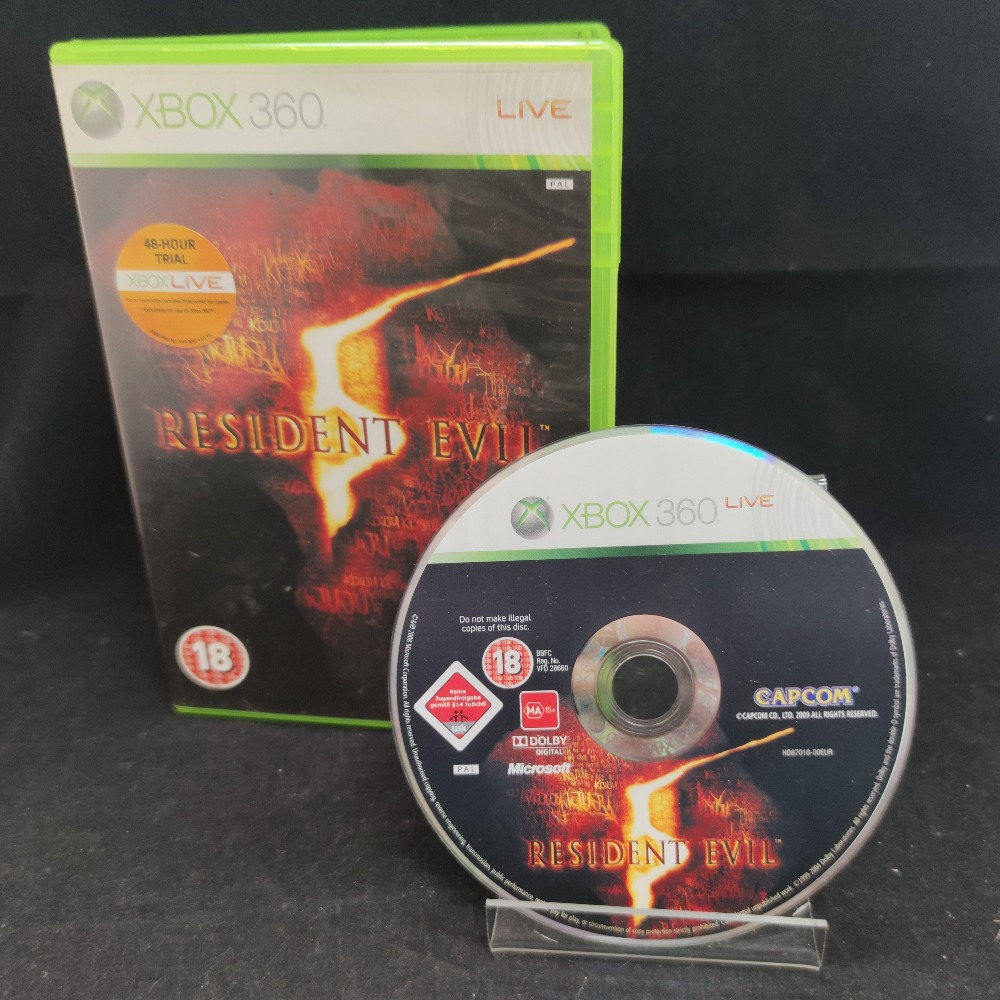 Product photo for  Microsoft Xbox 360 game Resident Evil 5
