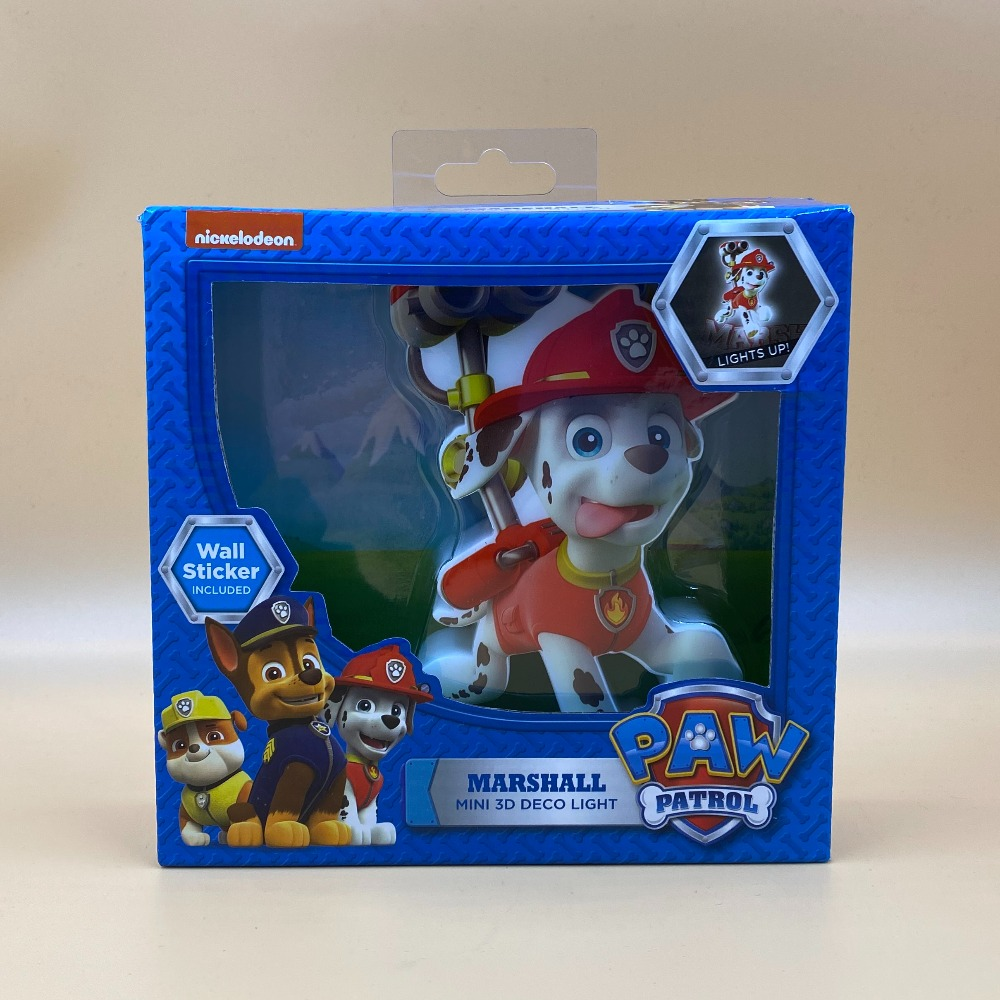 Product photo for PAW PATROL MINI MARSHALL LIGHT COMES WITH WALL STICKER