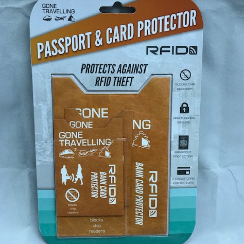 Product photo for Gone Travelling Passport Security Case