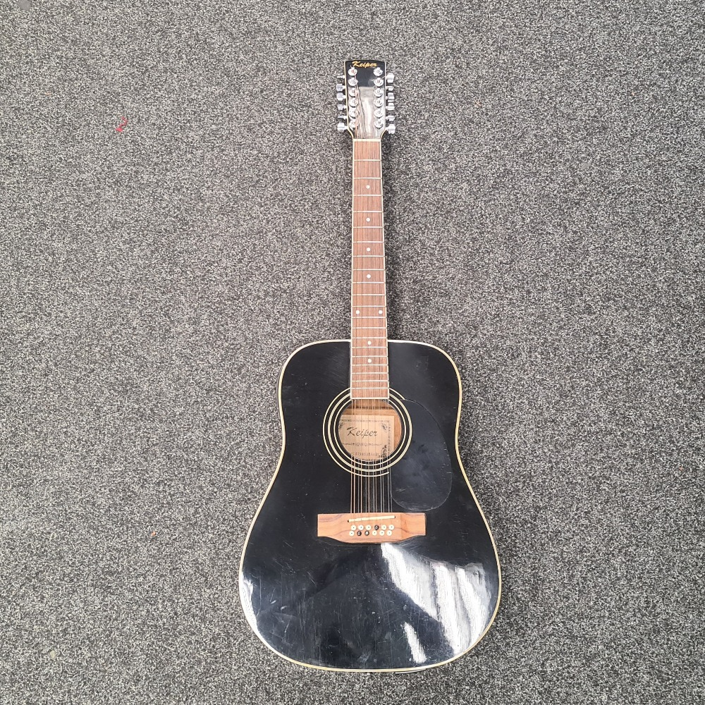 Product photo for Keiper 12 String Semi-Acoustic Guitar Black