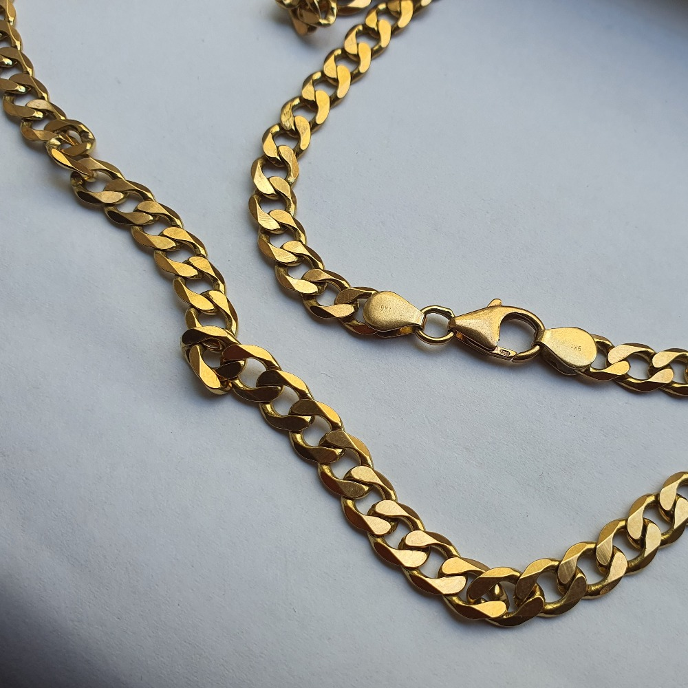 Product photo for 9ct Yellow Gold Curb Chain