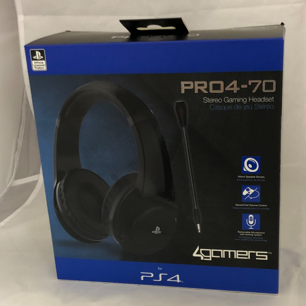 Product photo for 4Gamers PRO4-70 Stereo Gaming Headset - PS4