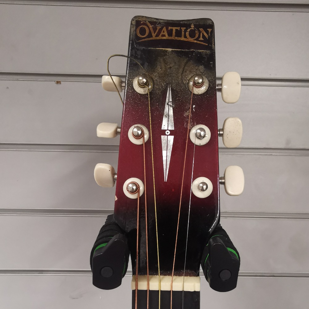 Product photo for Ovation Ovation Glen Campbell Series Replica Red Guitar