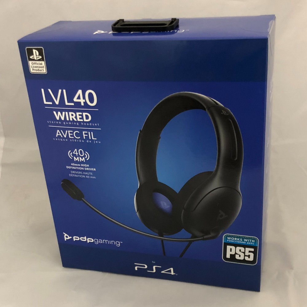 Product photo for Sony PDP LVL40 PS4 Wired Gaming Headset - Brand New & Sealed