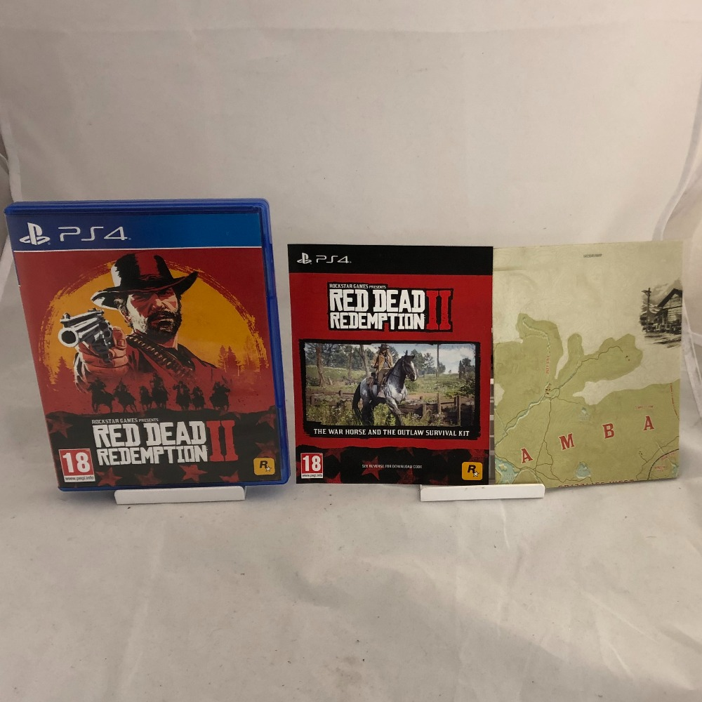 Product photo for Sony PlayStation 4 Red Dead Redemption 2 - PS4 - Complete With Manual & Map