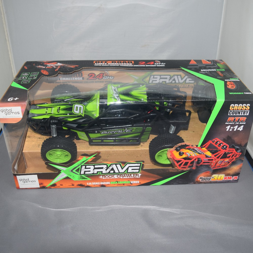 Product photo for XBrave Xbrave Rock Crawler Race Car (1:14 Scale)