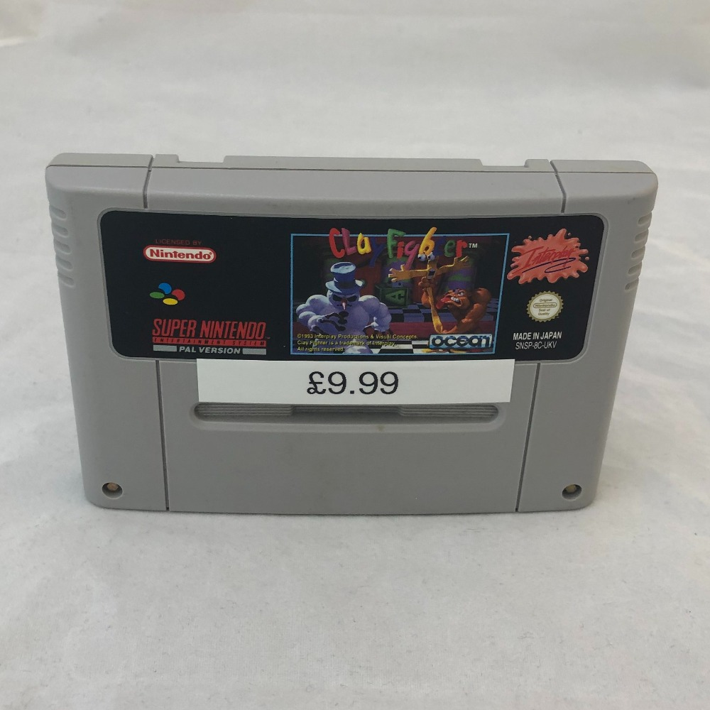Product photo for Clay Fighter Nintendo SNES Game